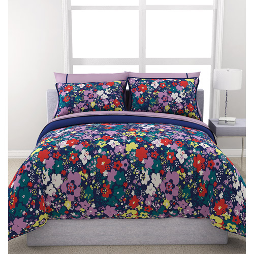Formula Ditsy Floral Reversible Bed in a Bag Bedding Set, Navy