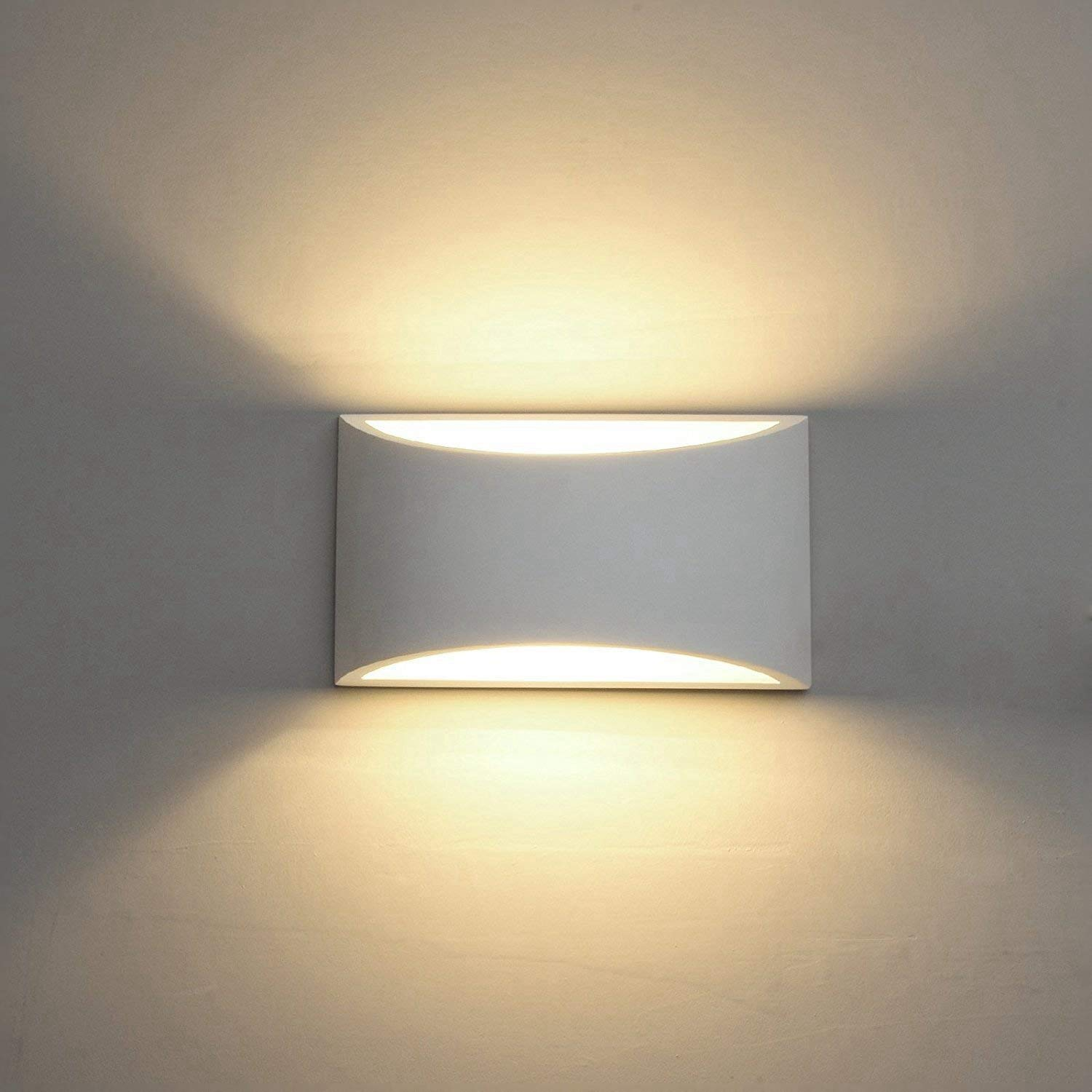 Modern Led Wall Sconces Sconces Wall Mounted Wall Lighting Fixture 7w Warm White 2700k Up And Down Wall Lamps For Living Room Bedroom Hallway Porch Corridor Stairs Conservatory Motion Sensor Walmart Com Walmart Com