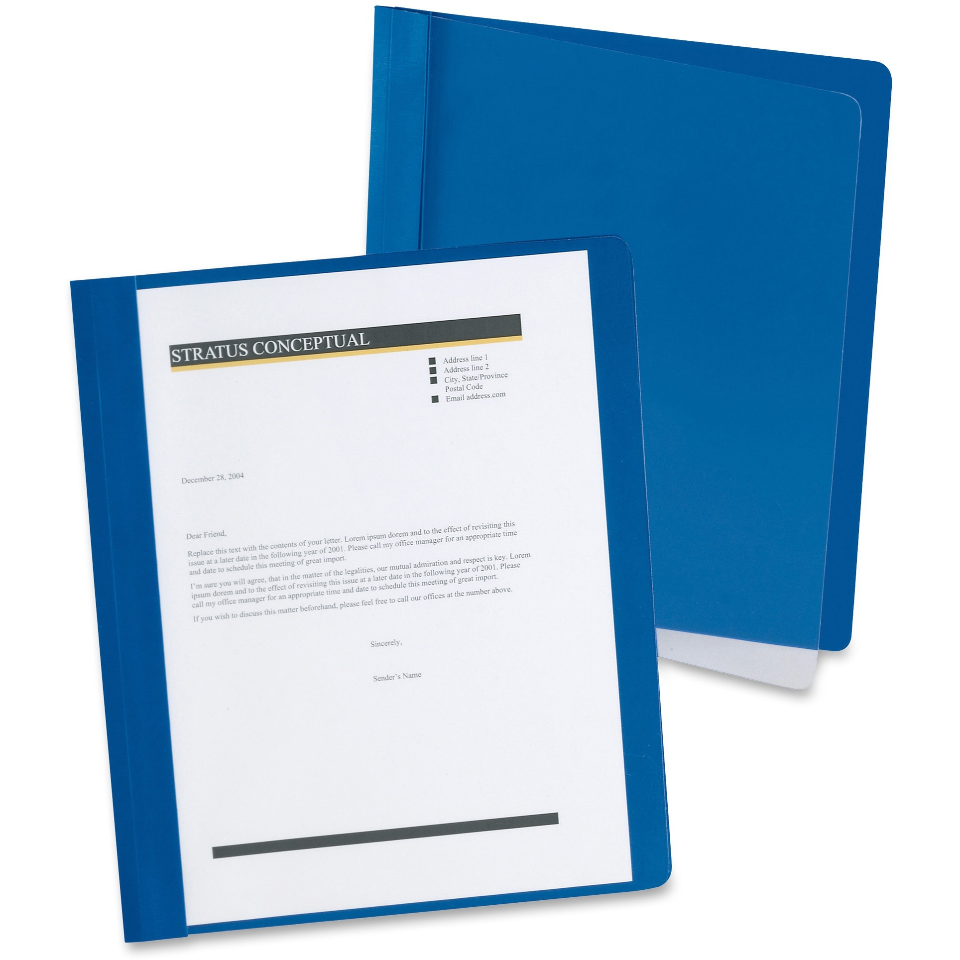 Oxford, OXF5354023X, Extra-Wide Report Cover, 25 / Box, Clear