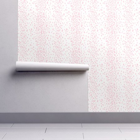 Peel-and-Stick Removable Wallpaper Pink Dot Blush Pink Polka Dot Baby