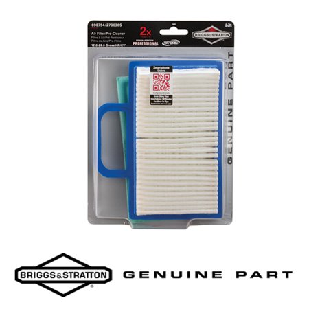 Briggs & Stratton 5069K Genuine Extended Life Series™ Air Filter Cartridge 689754 and Foam Pre-Cleaner 273638S - Fits 18-26 HP Intek V-Twin (Briggs And Stratton Intek 20 Hp Air Filter)