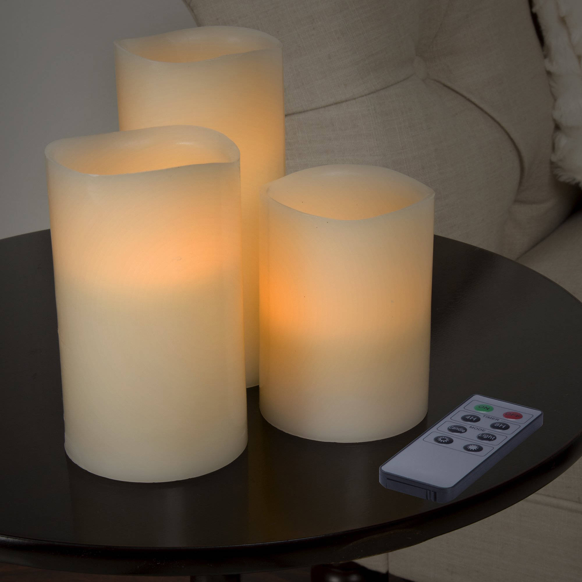 Lavish Home 3-Piece LED Flameless Candle Set with Remote
