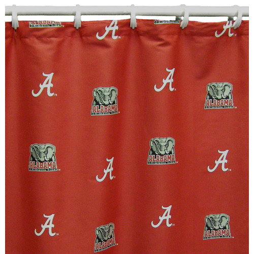 College Covers NCAA Alabama Cotton Printed Shower Curtain