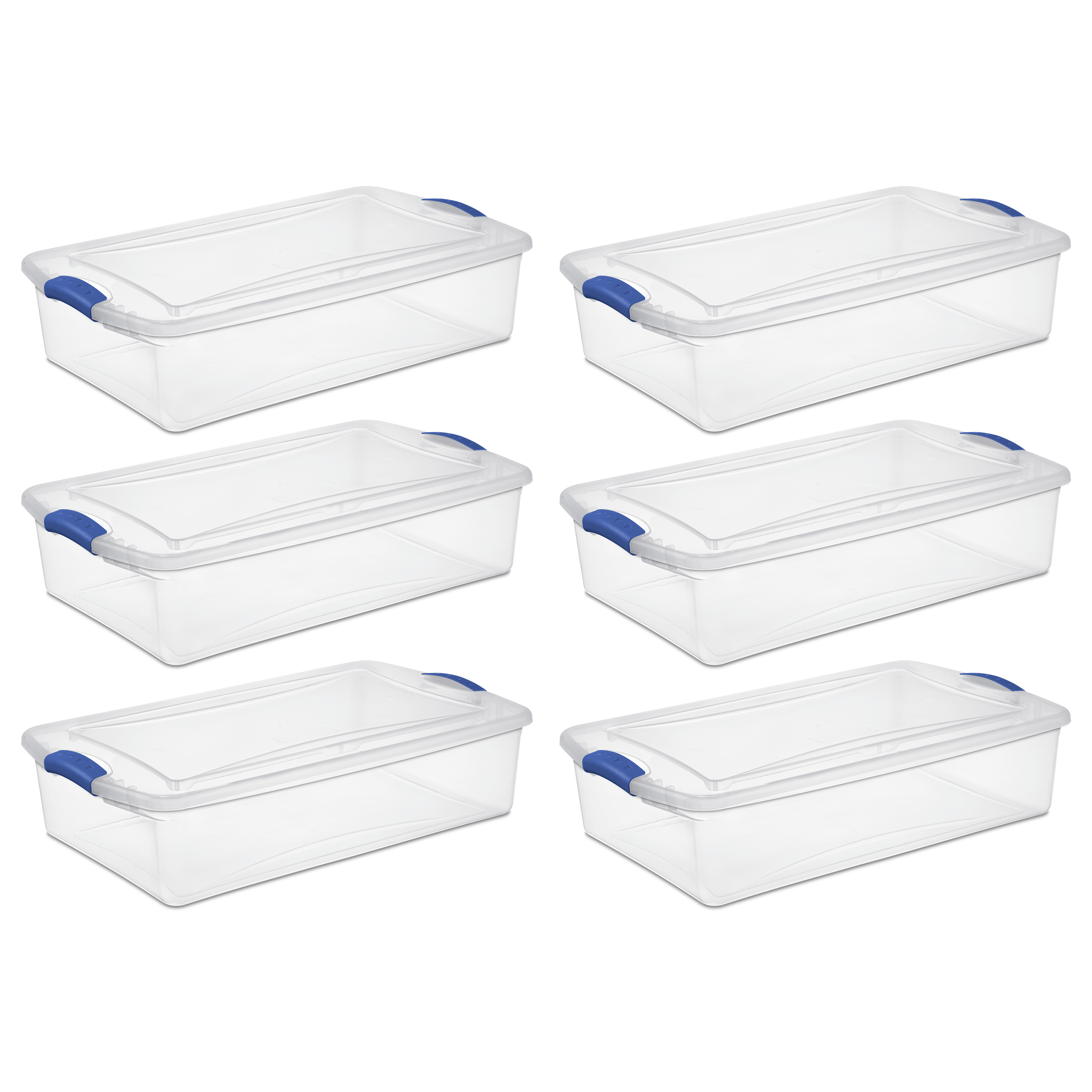 Sterilite 34 Qt Latch Box, Stadium Blue (Available in Case of 6 or Single Unit)