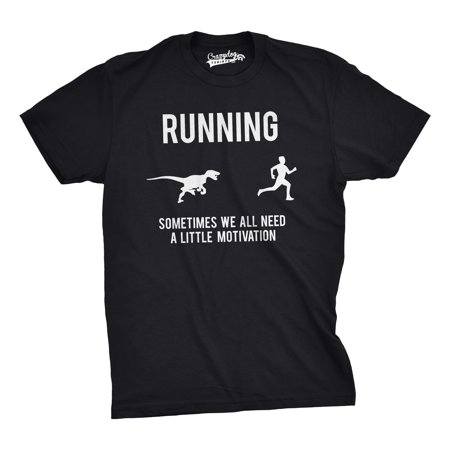 Mens Running Motivation Raptor Chase T Shirt Funny Dinosaur Tee For Guys](Dinosaur Suits)