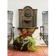 Formal Courtyard Fountain in Moss Finish