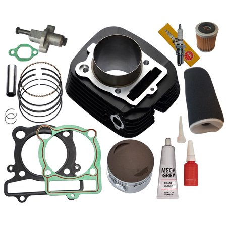 Top Notch Parts Yamaha Wolverine 350 Cylinder Piston Gasket Air Oil FilterTop End Kit Set 4wd 1995-2005