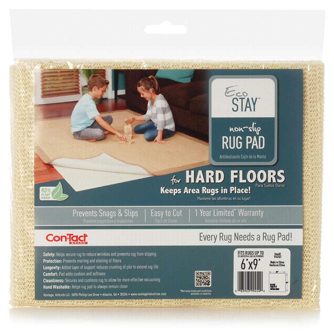 Eco-Stay V14767 Non-Slip Rug Pad, 9 ft L x 6 ft W, Polyester Textile by Kittrich Corp (Pliant)