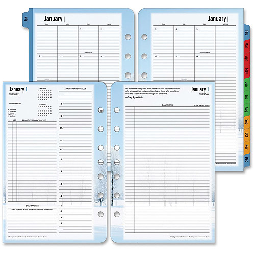 Franklin Seasons 2PPD Daily Planner Refill