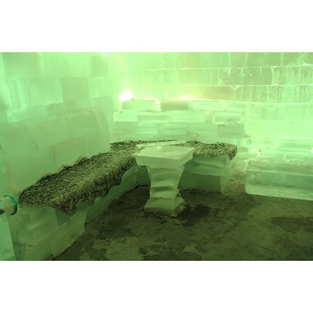 Framed Art For Your Wall Ice Bar Bar Green Travel Freezing Cold Icebar 10x13 Frame