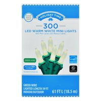 Holiday Time Warm White LED Mini Christmas Lights, 59', 300 Count