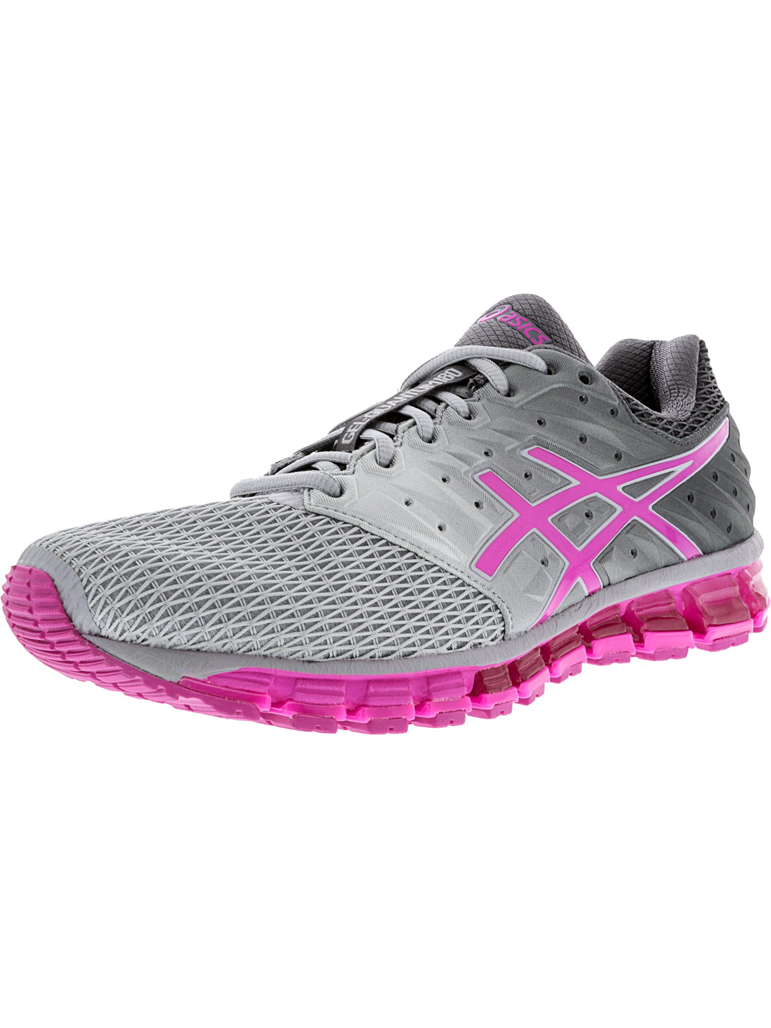 Asics Women's Gel-Quantum 180 2 Midgrey / Pink Glow Carbon Ankle-High Running Shoe - 5M