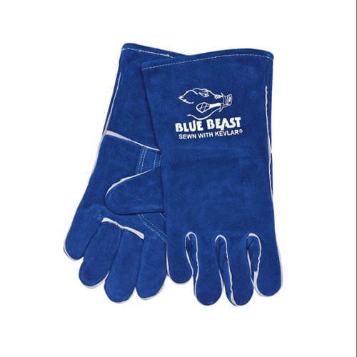 MCR SAFETY Welding Gloves, XL, Blue, PR 4600