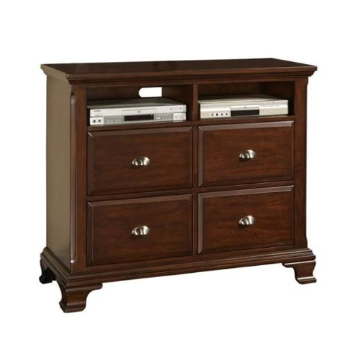 Elements Canton Media Chest in Deep Cherry