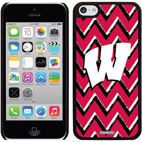 Wisconsin Sketchy Chevron Design on iPhone 5c Thinshield Snap-On Case by Coveroo