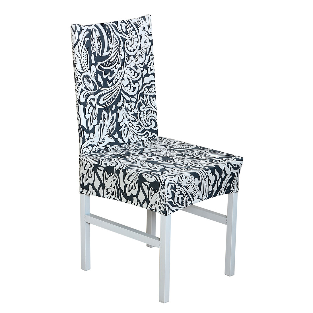 PiccoCasa Elastic Polyester Dining Room Short Chair Covers