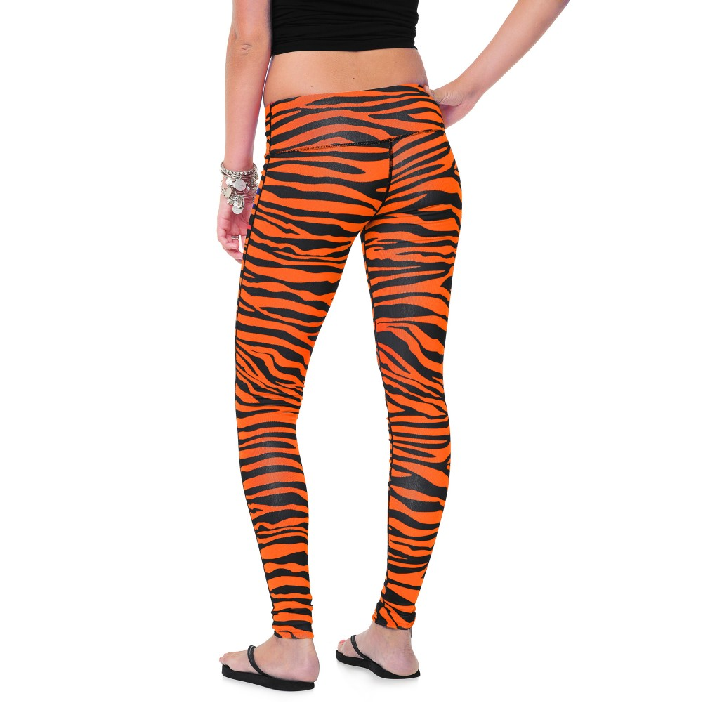 Team Tights Women's Leggings Black and Orange