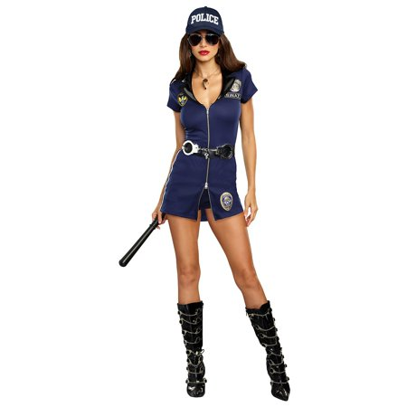 SWAT Police Woman Adult Costume - (Women's Swat Officer Halloween Costume)