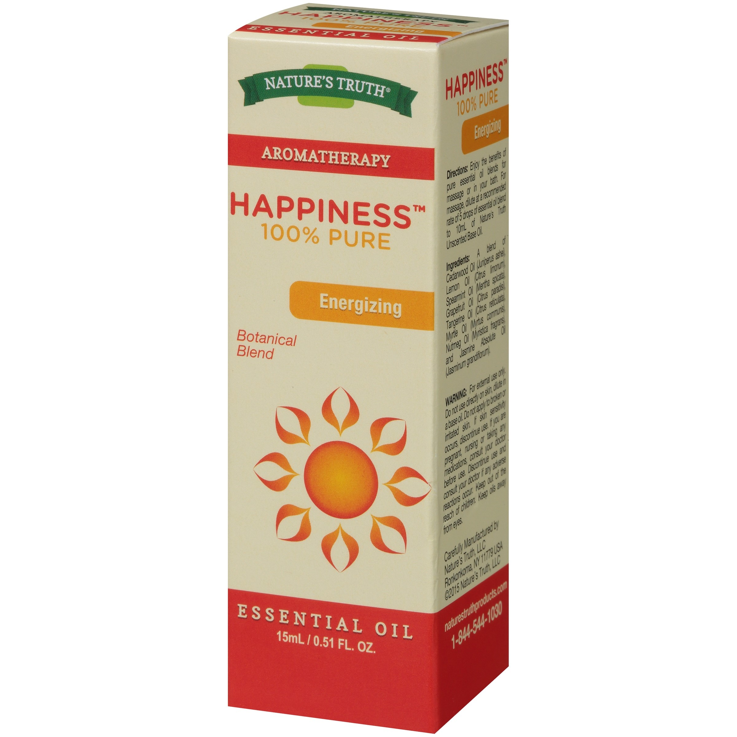 Nature's Truth Aromatherapy Happiness Essential Oil Blend, 0.51 Fl Oz