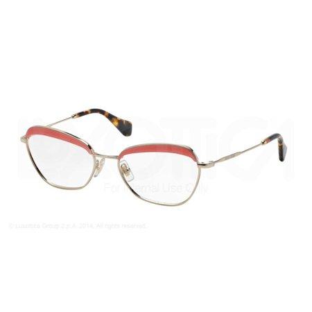 07175578cff Miu MIu MU51NV-PC21O1 Cat Eye Women s Gold Frame Genuine Eyeglasses NWT