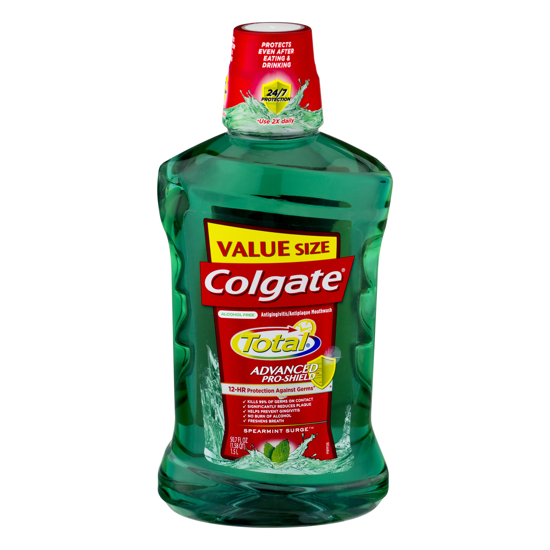 Colgate Total Pro-Shield Mouthwash, Spearmint - 1.5L, 50.7 fl oz