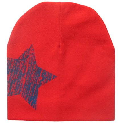 Outtop Print Star Baby Beanie For Boys Girls Cotton Knit Hat Children Winter Hats RD