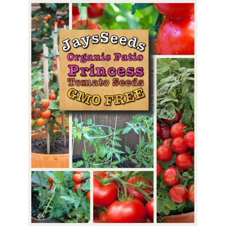 Patio Princess Hybrid Tomato 200 Seeds (Non-GMO) Jays