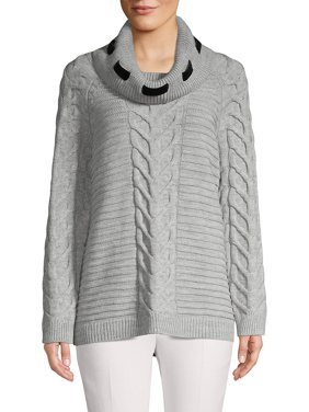 Raglan-Sleeve Cable-Knit Sweater