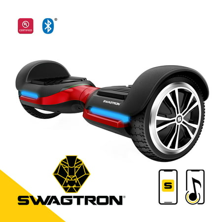 Swagtron Swagboard Vibe T580 Hoverboard with Bluetooth Speakers - Red