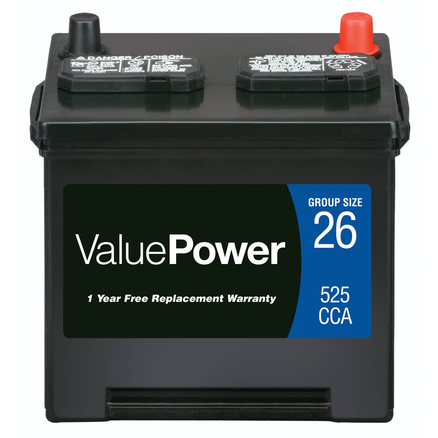 ValuePower Lead Acid Automotive Battery, Group 26