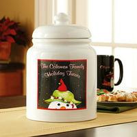 Personalized Friendly Snowman Cookie/Treat Jar