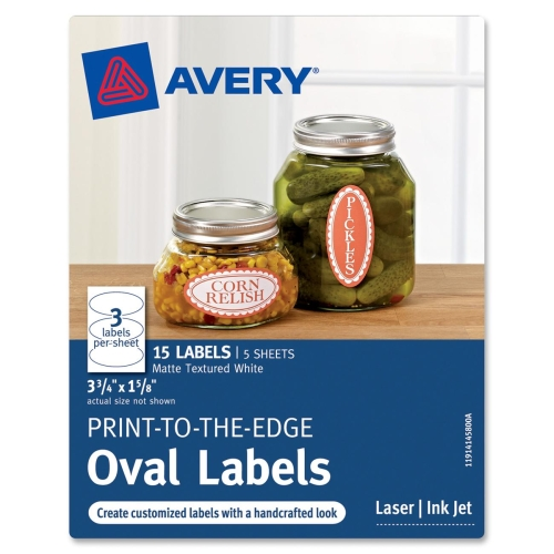 Avery Print-To-The-Edge Oval Labels