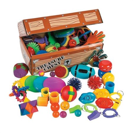 Party Treasure Chest - Fun Express Toy Assortment Treasure Chest - 100 Pieces