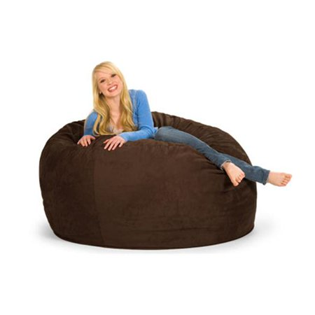 RelaxSacks 5DM-MS002 5 ft.  Round Relax Sack - Microsuede Chocolate