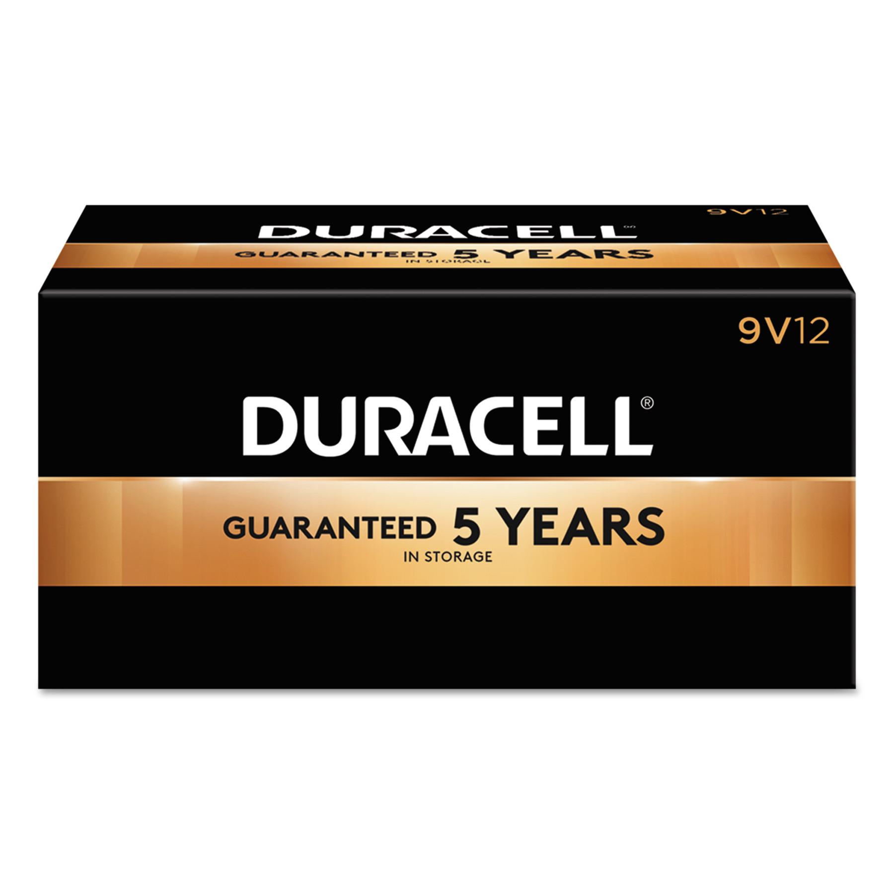 Duracell CopperTop Alkaline Batteries, 9V, 12/BX -DURMN1604BKD