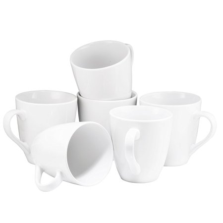 - Coffee Mug Set Set of 6 Large-sized 16 Ounce Ceramic Coffee Mugs Restaurant Coffee Mugs By Bruntmor (White)