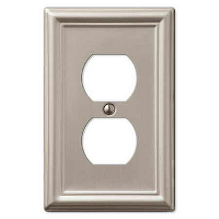 Baldwin Duplex Switchplate - Duplex Wall Switch Plate Outlet Cover - Brushed Nickel