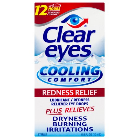 Clear Eyes Cooling Comfort Redness Relief Eye Drops, 0.5 FL