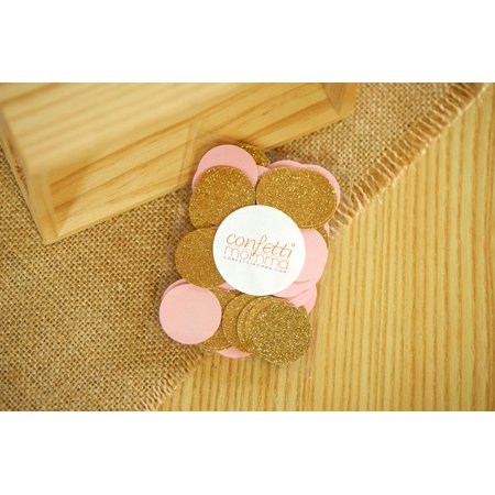 Pink and Gold Confetti Circles 1