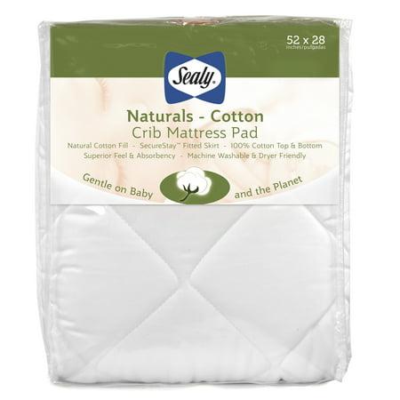 Sealy Naturals Cotton Crib and Toddler Mattress Pad
