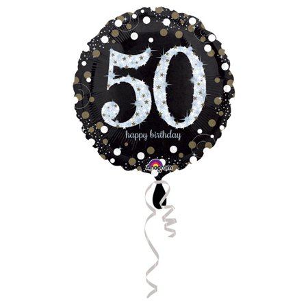 Amscan 3213101 50th Birthday Foil Balloons ()
