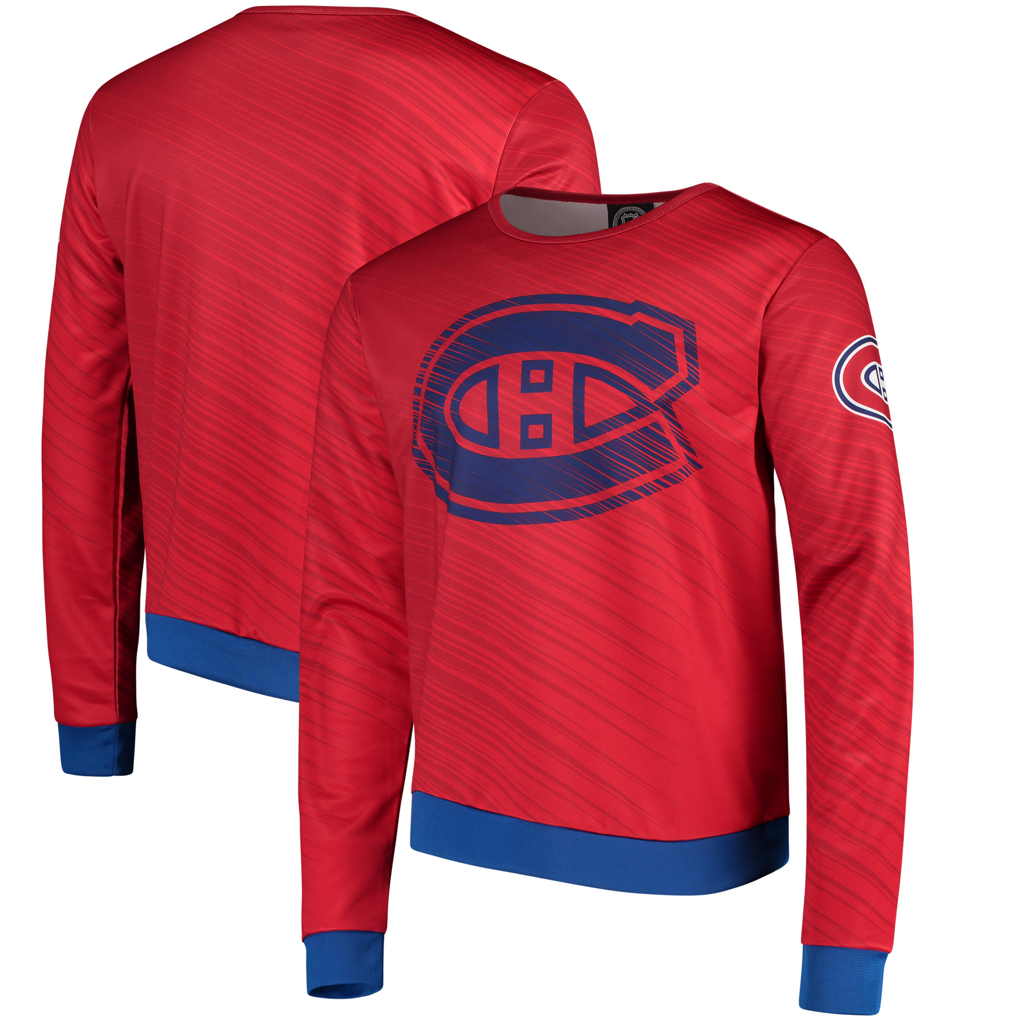 Montreal Canadiens Static Rain Printed Sweatshirt - Red