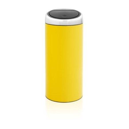 Brabantia 30 Liter Touch Bin.Brabantia Touch Bin 30 Liter Lemon Yellow Walmart Com