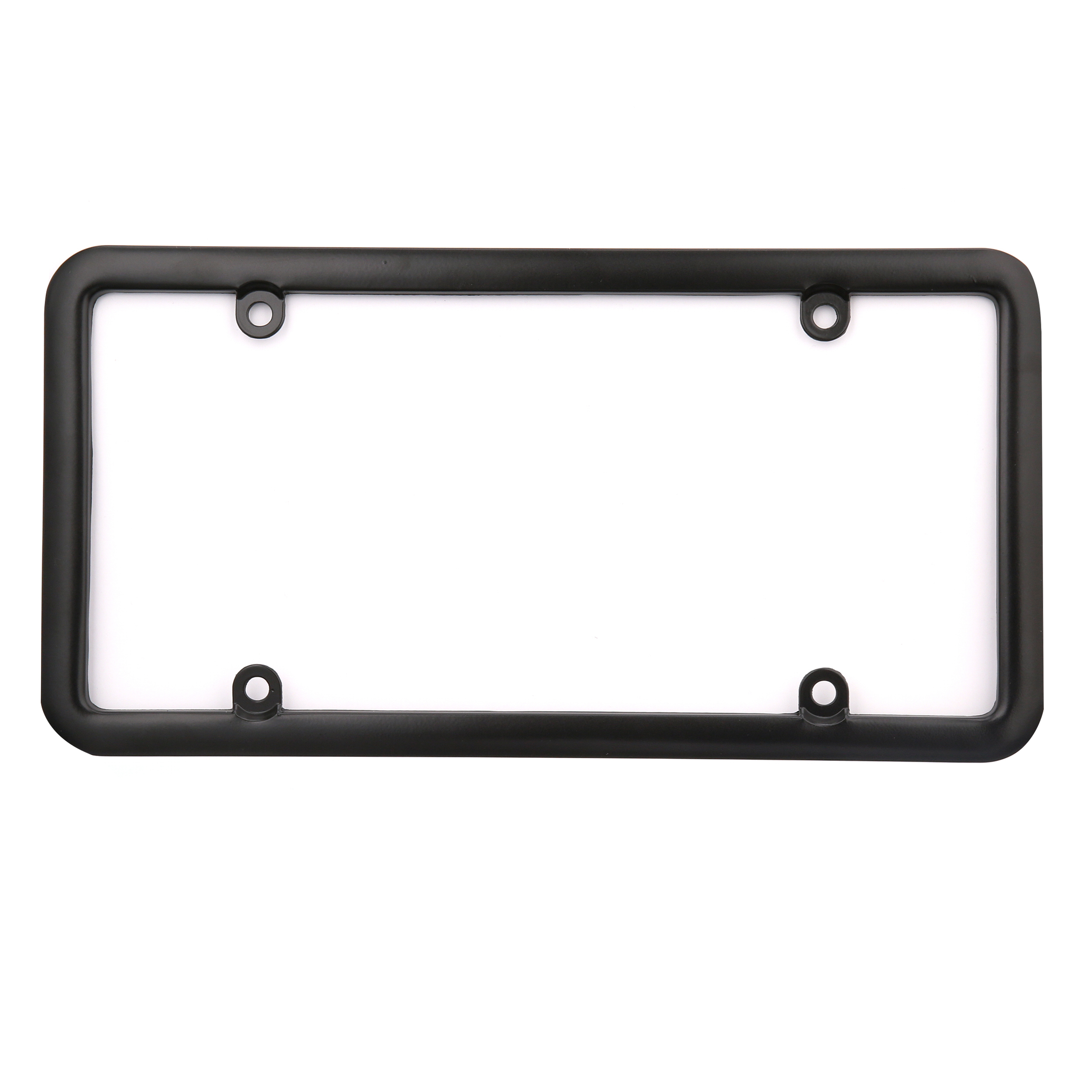 Black Plastic License Plate Tag Frame Clear Shield+Bolts+Caps for Car-Truck