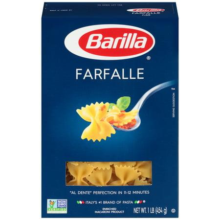 (4 pack) Barilla Pasta Farfalle, 1.0 LB (Bolognese Pasta)