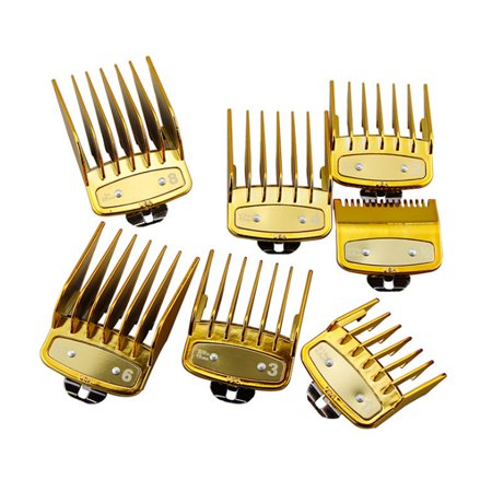 8Pcs/Set 1.5-25mm Professional Hair Clipper Cutting Guide Combs With Metal Clip Replacement Trimmering Groomming Tools For WAHL (NOT included the Hair Clipper) Wahl Attachment Guide
