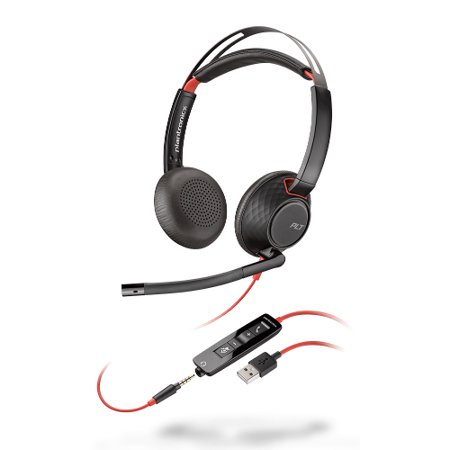 Plantronics Blackwire 5220 Stereo Corded Headset Replaces discontinued Audio - Plantronics Audio 350 Audio