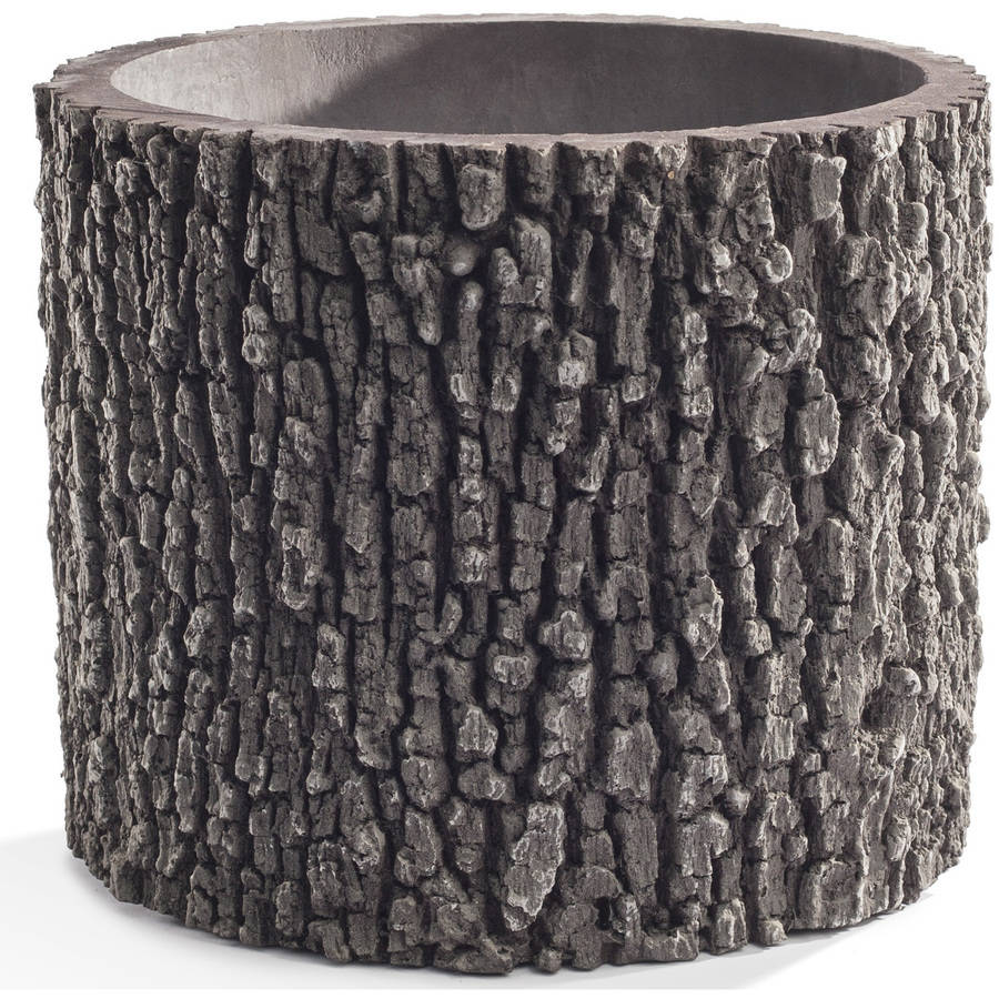 """Gardening Planter Flower Pot for Home, Garden, and Patio with Natural Oak Tree Look Vertical 13"""" by Surreal by Nature Innovations"""