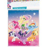 Plastic My Little Pony Goodie Bags, 9 x 7 in, 8ct