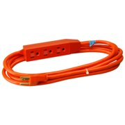 Master Electrician 04006ME 9 ft. Orange 3 Outlet Appliance Cord Power Center